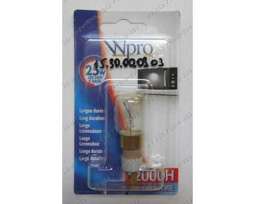 Лампочка универсальная 25W цоколь C base для микроволновки Whirlpool, Bauknecht