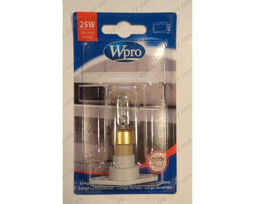 Универсальная лампочка для СВЧ Whirlpool, Bauknecht 481281728331, 484000000987