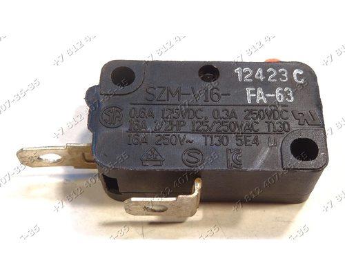 Микровыключатель для СВЧ Samsung, LG, Daewoo 2 контакта SZM-V16, GSM-V0303A2