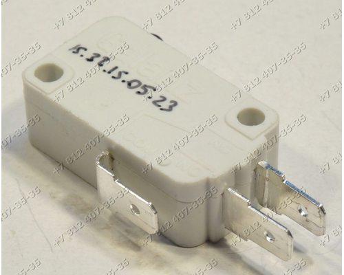 Микровыключатель Galanz W-15-102C 3 контакта для СВЧ Gorenje MO17MW-UR 372960