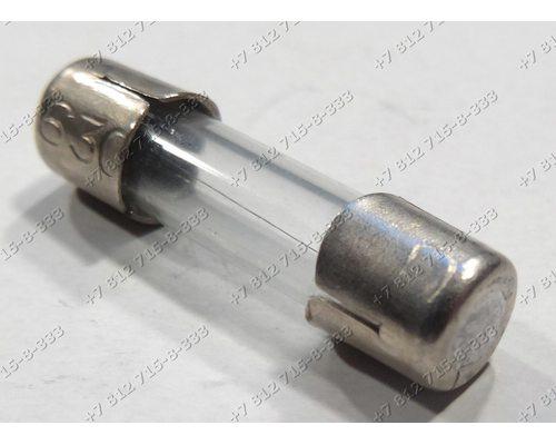 Универсальный предохранитель 0,63A 5*20 мм длина 2 см стекло ВПБ6-6В-0,63А для СВЧ