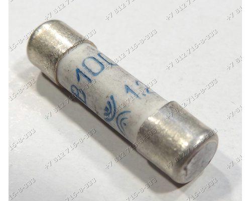 Универсальный предохранитель 1,25A 5*20 мм длина 2 см керамика ВП2Б-1В-1,25A 250В для СВЧ