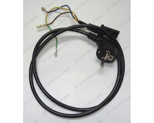 Сетевой шнур для СВЧ Rolsen, Elenberg, Midea, Zanussi, BBK и так далее - черный, общая длина 102 см