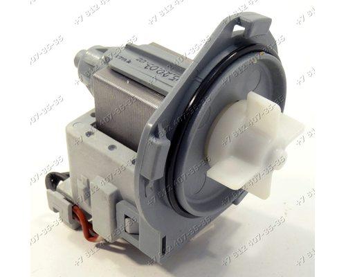 Помпа B30-6AZ на 3 защелках, контакты назад кубиком для стиральной машины Vestel