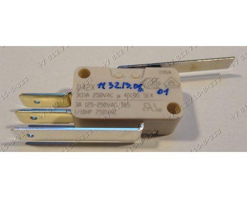 Микровыключатель D42X для посудомоечной машины Beko DFS1511 DFS5830 Kuppersberg и т.д. 3 контакта + Рычаг