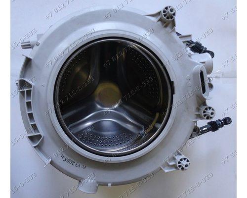 Бак в сборе с барабаном, лопастями, подшипниками, сальником, шкивом, амортизаторами для стиральной машины Vestel WM840T