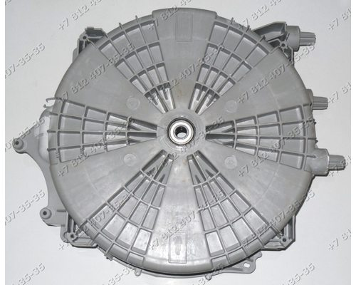 Задний полубак в сборе с подшипниками и сальником для стиральной машины Vestel 20691940