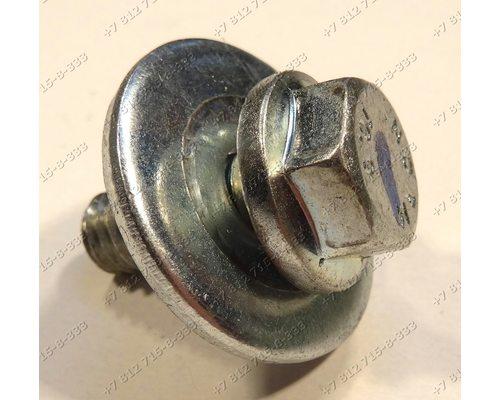 Болт шкива в сборе с шайбой стиральной машины Vestel WMO1041LCD, Whirlpool AWG223, Hansa AWN510DR