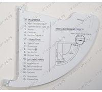 Планка с программами для стиральной машины Ariston RST703DW RST723DX