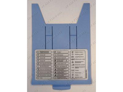 Панель с программами стиральной машины Beko WMD24500R WKD23580T