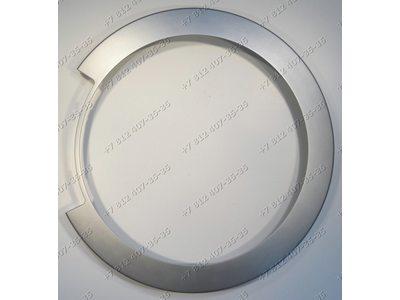 Внешний обод люка серебристый стиральной машины Bosch WLG20260OE/01 WLG20165OE/03 WLG20240OE/01