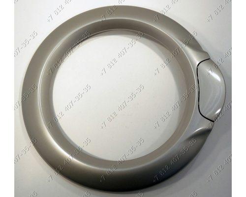 Внешний обод люка в сборе с ручкой стиральной машины Vestel WMS840TS WMS4010TS WMS4710TS WM834T и т.д. СЕРЕБРИСТЫЙ