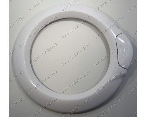 Внешний обод люка в сборе с ручкой стиральной машины Vestel Sanyo ASD3008R ASD3010R ASD4008R ASD4010R WM1034TSWM3410 WMS1034TS и т.д. БЕЛЫЙ