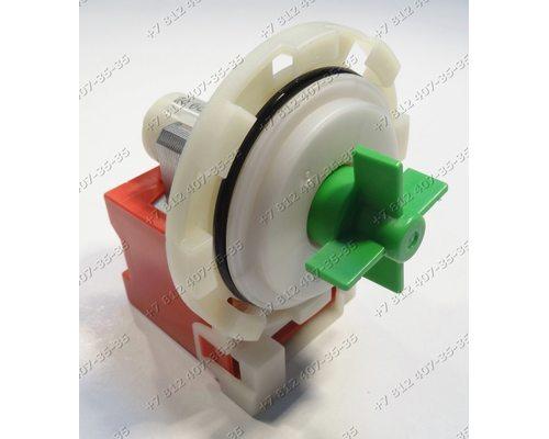 Помпа для стиральной машины Ardo, Bosch, Siemens, Whirlpool, Vestel на 8 защелках высокая крыльчатка, контакты сзади раздельно