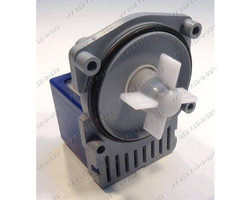 Насос для стиральной машины Bosch WFF1200-WFF1205 WFF1201, Siemens на 4 саморезах, контакты сзади под разъем