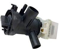 Насос для стиральной машины Bosch, Siemens в сборе с улиткой и фильтром Copreci KEBS111/047 786729 30W на защелках, контакты вперед под разъем (под фишку)
