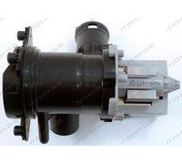 Насос для стиральной машины Bosch, Siemens в сборе с улиткой и фильтром Mainox 30W на защелках, контакты вперед под разъем (под фишку)