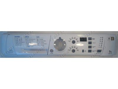 Передняя панель в сборе с панелью дозатора для стиральной машины Ariston ARSF125CIS ARSF125FR
