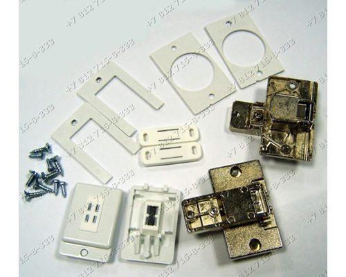 Комплект петель фасада для встройки сма стиральной машины Bosch WIS20, WIS24, WIS28 Siemens WI12S, WI14S NEFF W542, W544