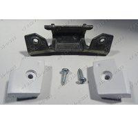 Петля двери в сборе с 2 пластмассовыми проставками и крепежом стиральной машины Bosch 00153693