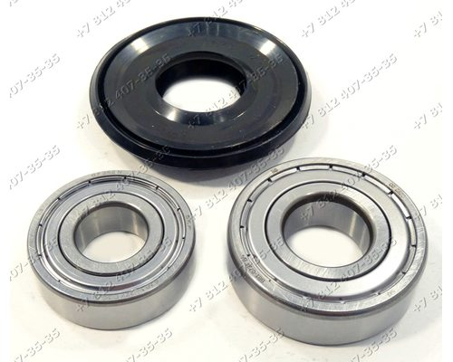 Подшипники и сальник - ремкомплект для стиральной машины Indesit Ariston 6203 + 6204 + 25*47/64*7/10.5
