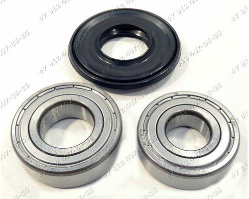 Подшипники и сальник - ремкомплект для стиральной машины Indesit Ariston 6204 + 6205 + 30*52/65*7/10