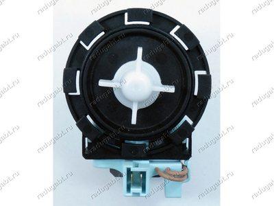 Помпа (насос) для стиральной машины на защелках, контакты спереди вместе и т.д.