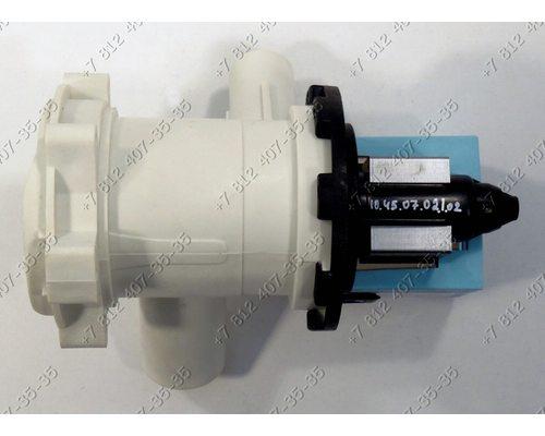 Насос для стиральной машины Bosch, Siemens и т.д. Askoll M50 на 3 защелках в сборе с улиткой и фильтром