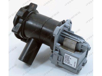 Помпа для стиральной машины Bosch, Siemens в сборе с улиткой и фильтром Askoll M50 (M221) 30W на защелках, контакты вперед под разъем (под фишку)