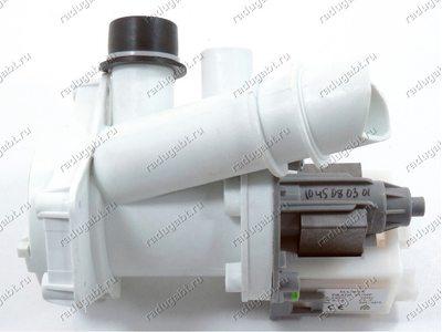 Сливной насос в сборе с улиткой и фильтром для стиральной машины Candy 91941771