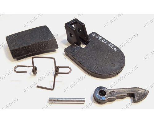 Ручка люка в сборе (в сборе с крючком, осью,планкой и пружиной) для стиральной машины Ariston