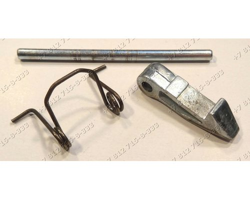 Крючок люка с осью и пружиной для стиральной машины Candy 31002182 GOY105-07S