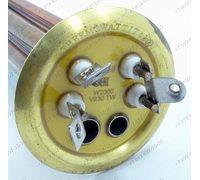 Тэн водонагревателя 2000W фланец 64 мм медный премиум качества - усиленный, контакты под винты для Thermex Ariston Polaris Эталон Isea Electrolux и т.д.