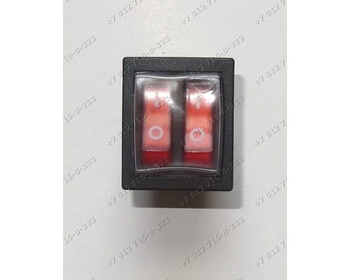 Блок переключателей (квадратный 6 контактов 2 клавиши с защитным чехлом) для водонагревателя Ariston