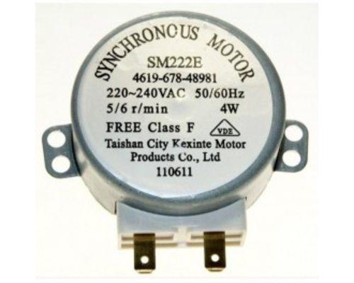 Мотор поддона SM222E металлический штырь H= 9мм,d=7мм 4W 5/6 r.p.m 220V для СВЧ Whirlpool